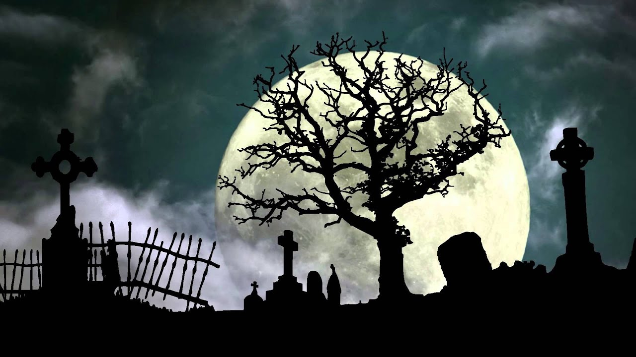 Halloween Graveyard Cemetery - YouTube