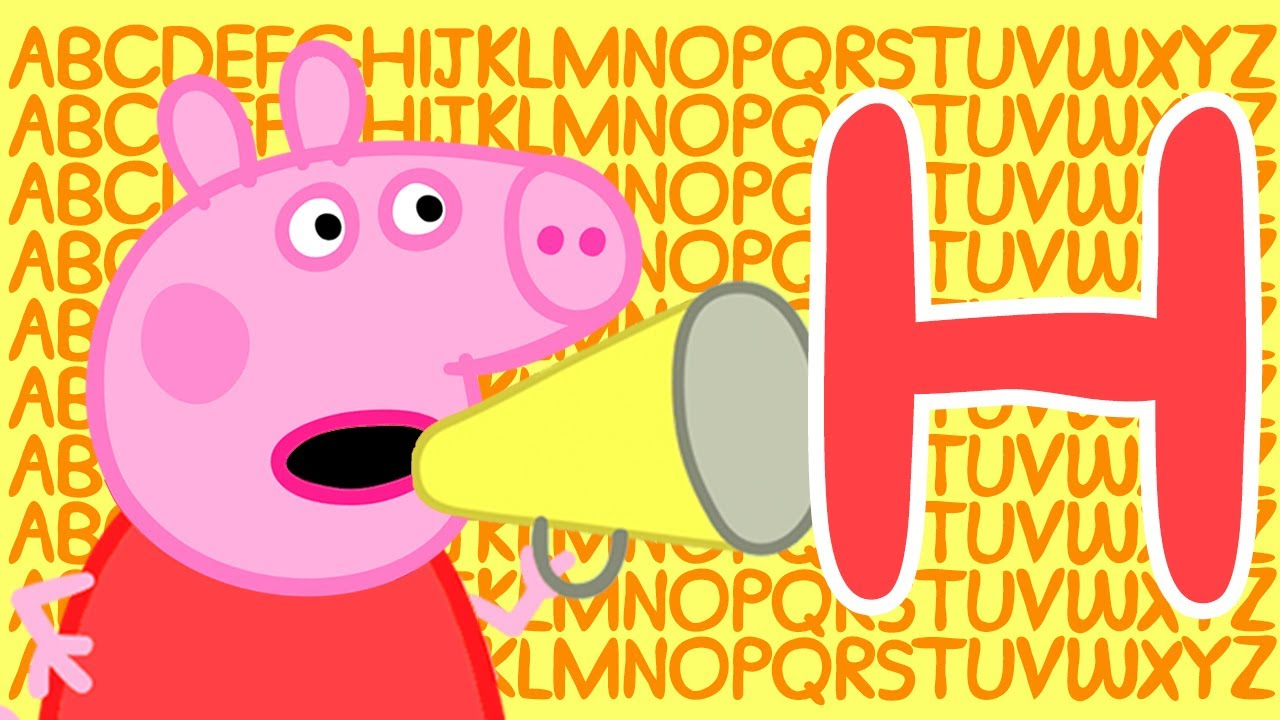 Peppa Pig 🔠 Letter H | Learn the Alphabet with Peppa Pig | ABC Letter Boxes | Learn with Peppa Pig
