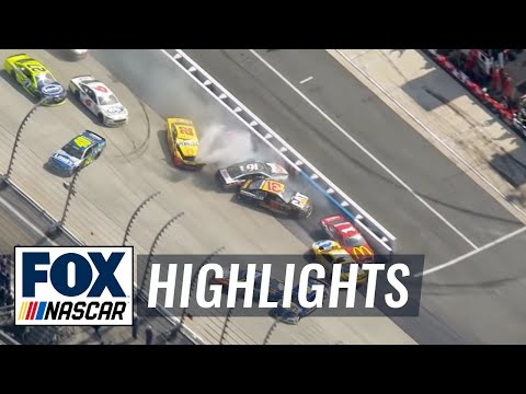 Jimmie Johnson Starts Massive Wreck - Dover - 2016 NASCAR Sprint Cup