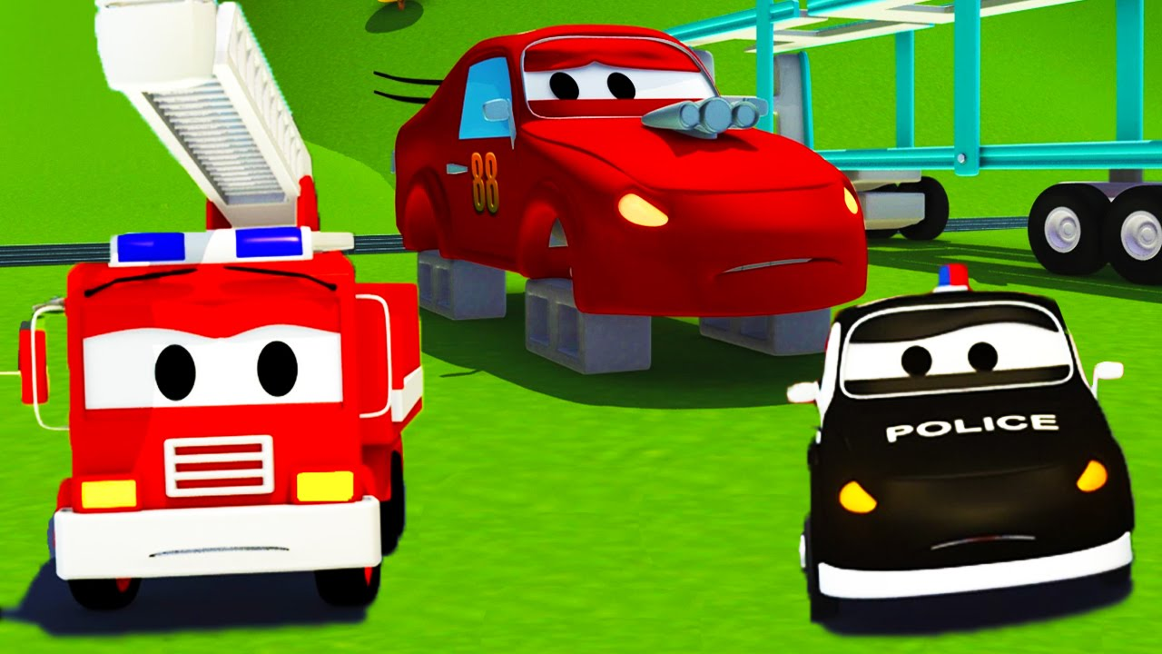 Jerry Si Mobil Balap Mobil Patroli L Truk Kartun Untuk Anak Anak Youtube