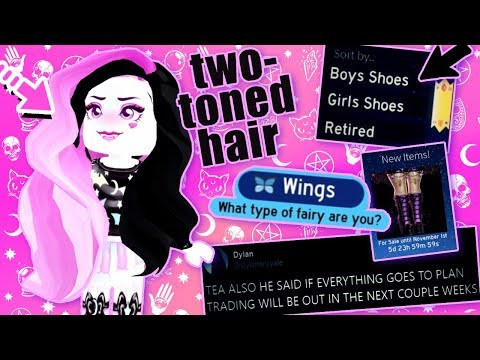 HOW TO get TWO TONED hair! BOYS SHOES COMING! Royale High News & Tips!