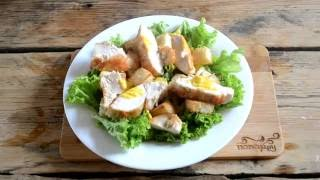 Как приготовить салат Цезарь. Классический салат Цезарь