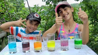 Guka & Nastya pretend play science experiments and learn colors for kids