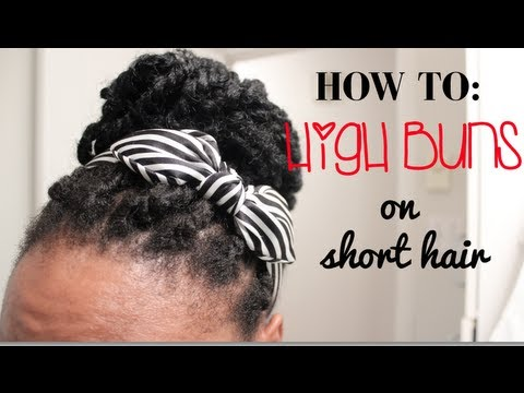 Short 4C Natural Hair Styling Option Easy High Buns