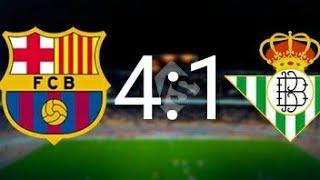 ОБЗОР МАТЧА! Барселона - Реал Бетис. КАК БАРСЕЛОНА ПРОДОЛЖАЕТ ГРОМИТЬ ПРОТИВНИКА!