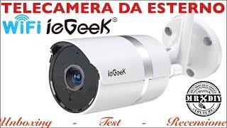 Telecamera per video sorveglianza da esterno WI-FI. IEGEEK IG82 Impermeabile notturna. Migliore ip66