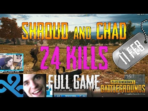 Shroud and Chad | 24 Frags | PUBG