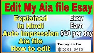 Edit Auto Impression app || Free Aia file given in description😀😀
