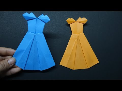 How To Make A Paper Dress ?  Easy Paper Crafts - DIY