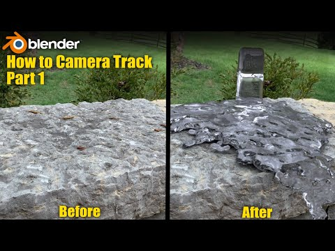 Camera Tracking In Blender Part 1 - The Quickest Method Possible