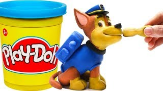 Paw patrol Chase 💕Superhero Play Doh Stop motion videos for kids