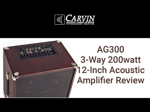 Carvin Amplifiers AG300 Acoustic Amp Demo and Review