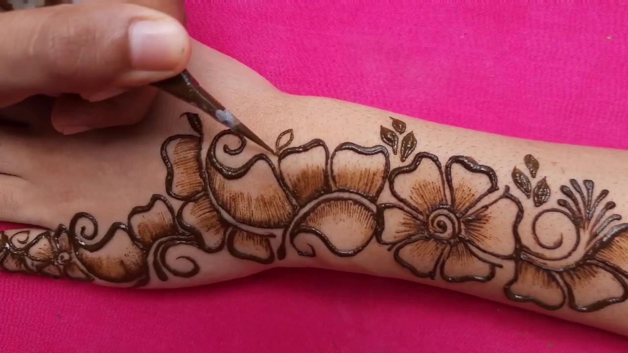 arabic shaded mehndi designs    Rakhi 2020 special mehndi designs for hands    simple mehndi designs - YouTube