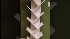 How to  Assemble Tree Bookshelf,9-Shelf Bookcase Display Rack Shelf Organization Display Storage