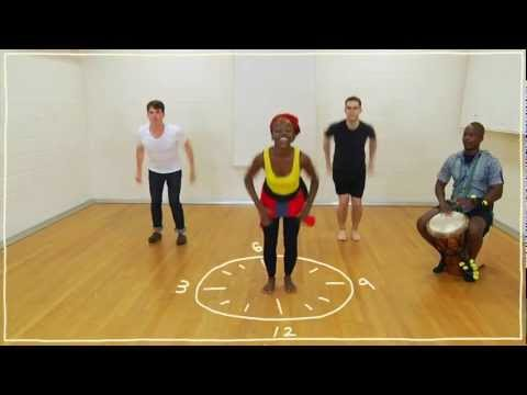 Five(ish) Minute Dance Lesson - African Dance: Lesson 3: Dancing on the Clock thumbnail