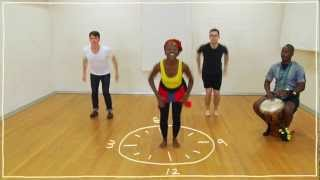 Five Ish  Minute Dance Lesson - African Dance: Lesson 3: Dancing On The Clock