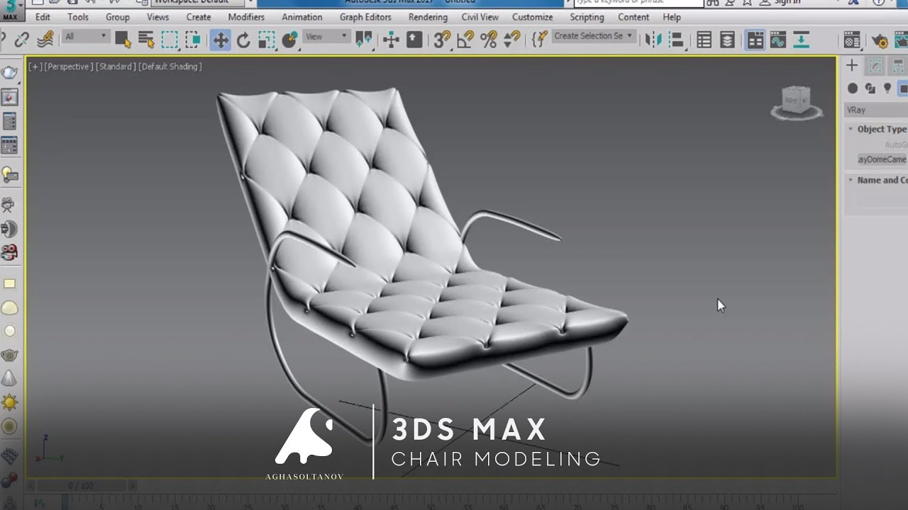 3D Max Chair Modeling Tutorial YouTube
