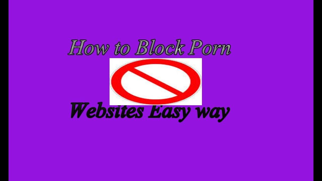 How do you block porn