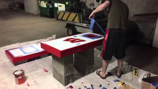 Wisconsin Badgers Cornhole Board Painting