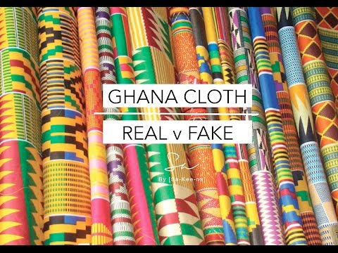 Ghana Cloth - Real v Fake