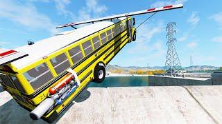 BeamNG drive - School Bus Crashes & Jumps #57 | BeamNG-Destruction