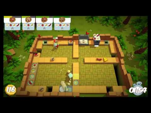 [Overcooked: Lost Morsel Level 1-6] 2-Player Former World Record Score: 242  