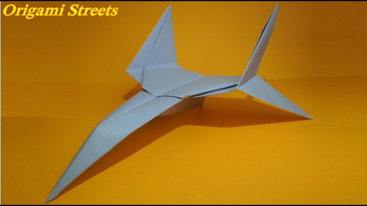 How To Make A Star Fighter Origami Paper Plane Tutorial