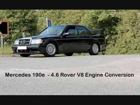 mercedes 190e 4 6 rover v8 engine conversion youtube. Black Bedroom Furniture Sets. Home Design Ideas