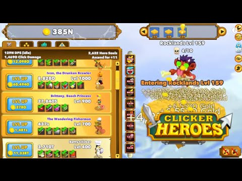 Clicker heroes gameplay quick ascension level 1 to 200 in 15