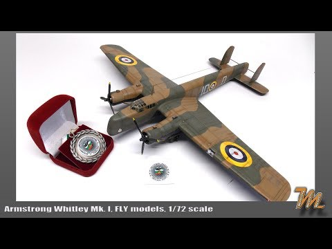 Armstrong Whitley Mk.I 1/72 scale model Fly models step by step