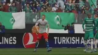 FIFA : Bundesliga 2016/17 : Hamburger SV - SV Werder Bremen : 1. Halbzeit