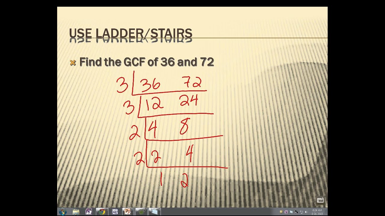 Gcf ladder method 6th grade youtube gcf ladder method 6th grade ccuart Choice Image
