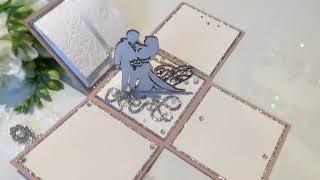 Пригласительное на свадьбу Magic Box в цвете пудра