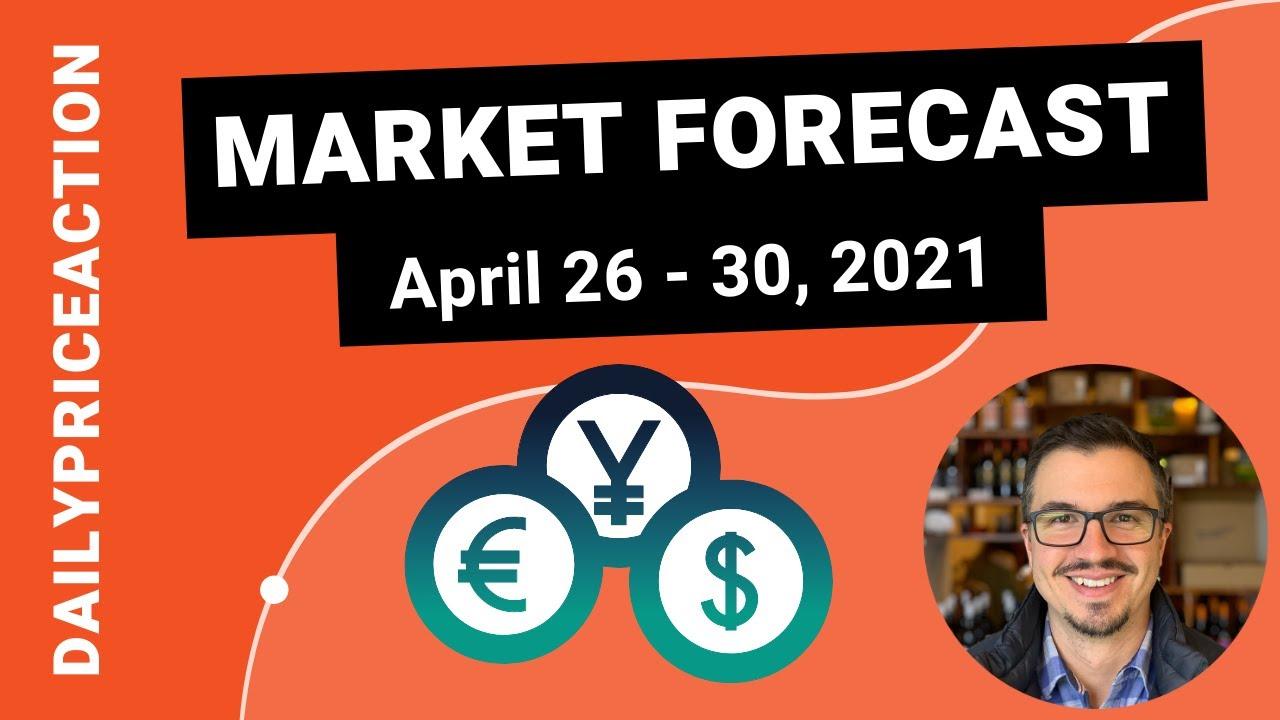 Weekly Market Forecast for EURUSD, GBPUSD, USDJPY, AUDUSD, and BTCUSD (April 26 – 30, 2021)