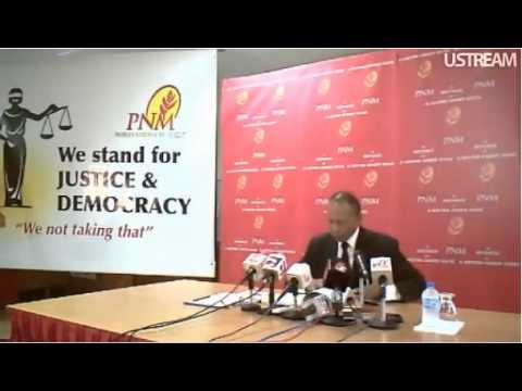 Patrick Manning's Press Conference : 28th October 2011