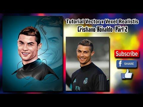 ( Photoshop Tutorial ) Vector Vexel Cristiano Ronaldo Realistic Part 2 thumbnail