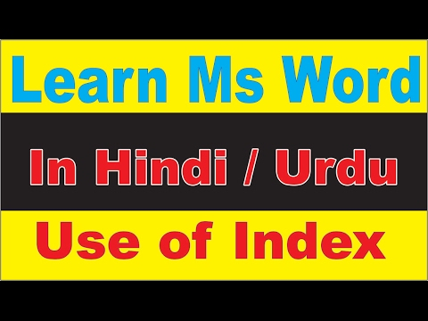 How to Use Index Block In Ms Word | Mark entry | Insert Index