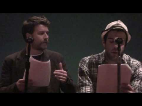Zachary Quinto and Noah Bean in 'Bright Side' screenplay reading, written/directed by Alexander Poe