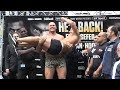 FUNNY! TYSON FURY VS SEFER SEFERI WEIGH INS & FACE OFF, BOTH SHOW LOVE & RESPECT