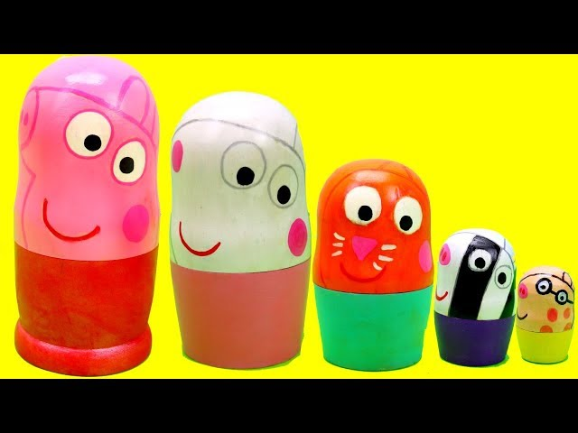 Peppa Pig Nesting Dolls Surprise Toys! New Peppa Pig Series 3 Mashems & Peppa Friends