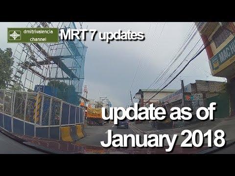 MRT 7 update as of January 2018