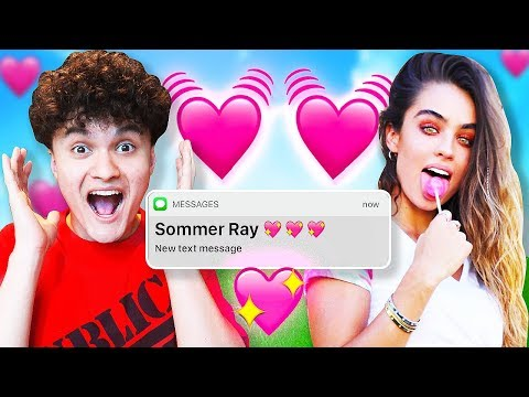 My Little Brother Reacts to His DREAM GIRL (Sommer Ray & FaZe Jarvis)