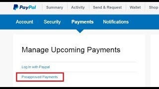 How do I cancel a PayPal payment