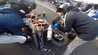 IL DÉFONCE MA MOTO !!! RAPTOR 700 vs KTM DUKE 690 R 🔞 Part.2