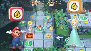 Super Mario Party Partner Party #258 Domino Ruins Treasure Hunt Mario & Rosalina vs Luigi & Waluigi
