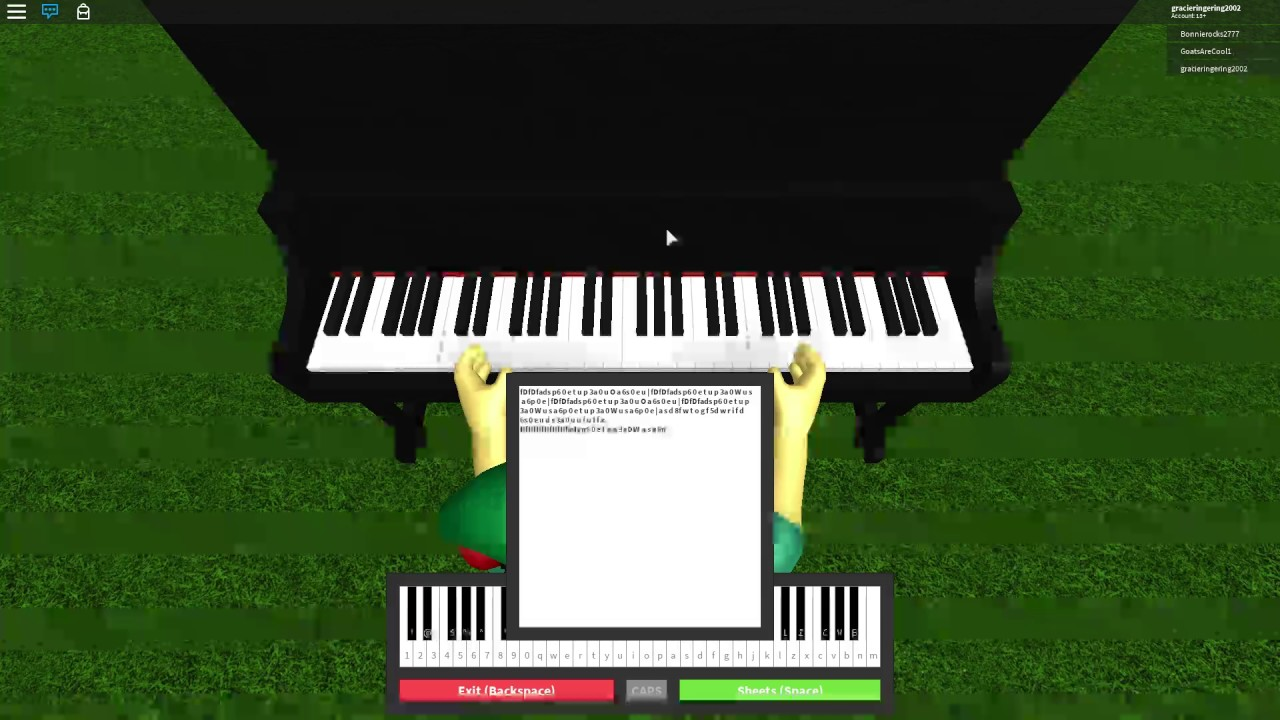 Playing Fur Elise By Beethoven On Roblox Piano For Yesmario Youtube