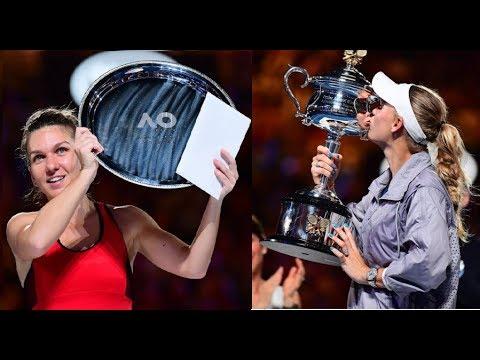 Extended Full Highlights Caroline Wozniacki VS Simona Halep AO FINAL 2018