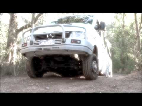 Mercedes Sprinter 4x4 river crossing