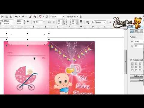 Tarjeta de Baby Shower en Corel Draw X4 para Imprimir