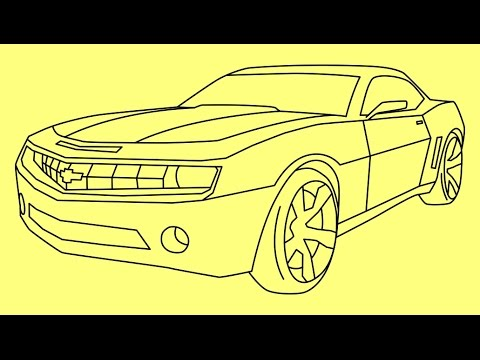 How To Draw Chevrolet Camaro Transformers Bumblebee Как